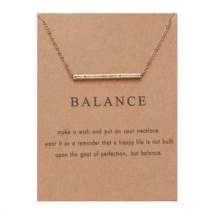 Dogeared Balance necklace with wish card